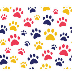 cat or dog paw seamless patterns backgrounds for vector image