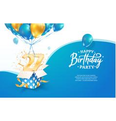 Celebrating 27th years birthday vector