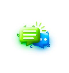 chat bubble talk dialogue messenger or online vector image