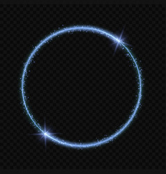 circle frame with light effect vector image