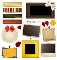 Collection of vintage paper and photo frames vector image