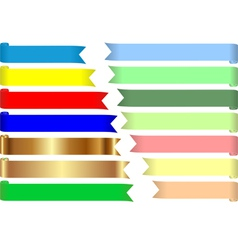 Colored tapes vector