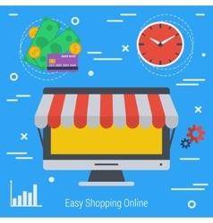 Concept online market vector