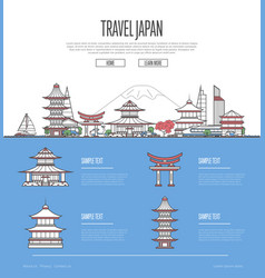 Country japan travel vacation guide vector