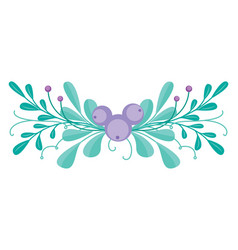 cute combination with hand-drawn floral vector image
