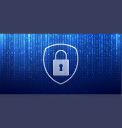 Cyber security and online data privacy protection vector