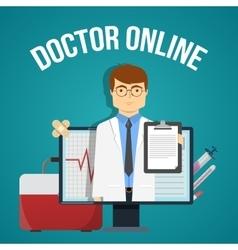 Doctor online design vector