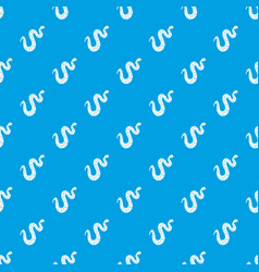 dotted snake pattern seamless blue vector image