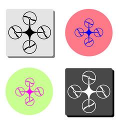 drone flat icon vector image