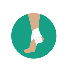 Elastic bandage for the ankle joint vector