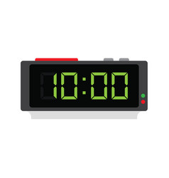 electronic alarm clock icon vector image