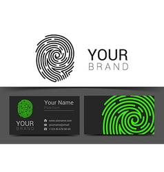 Fingerprint logo template icon design elements vector