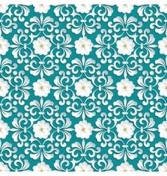 Flower seamless pattern element Volumetric vector