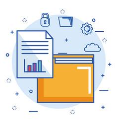 Folder file archive security cloud digital vector