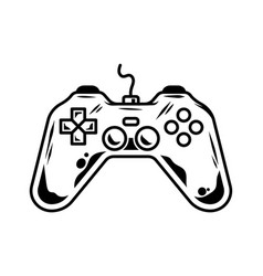 Gamepad for play arcade video game vector