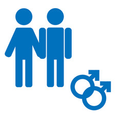 Gender icon symbol male boy man icon blue vector