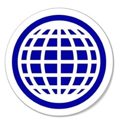 Globe round sticker vector image