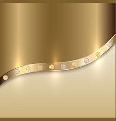 golden texture background with curve and precious vector image