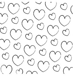 grunge beauty heart romance symbol background vector image