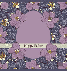 Happy easter greeting card with an egg vector