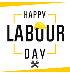 Happy labour day banner vector