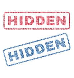 Hidden textile stamps vector