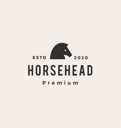 horse head hipster vintage logo icon vector image