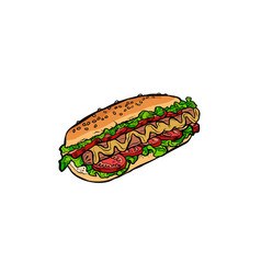 hot dog isolated on white background vector image
