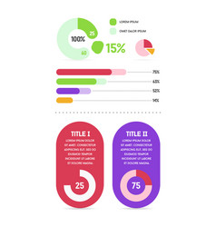 infographics elements and objects set modern flat vector image