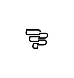 Initial letter f and b with line style logo vector