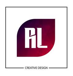 Initial letter rl logo template design vector