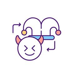 Internet troll rgb color icon vector