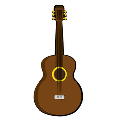 Isolated guitar music instrument vector