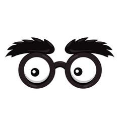 Lens glasses cartoon vector