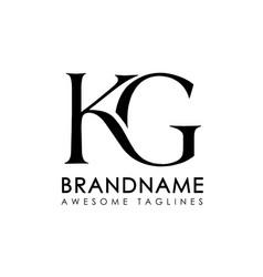 Letters kg logo monogram vector