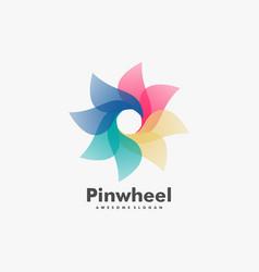 Logo pinwheel gradient colorful style vector