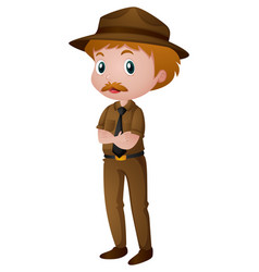 Man in park ranger costume vector