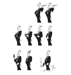man in the service servant butler waiter vector image