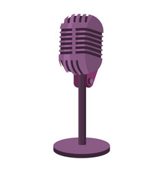 Microphone isolated icon vector