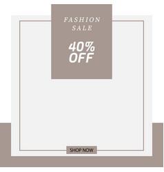 minimalist fashion social media square banner vector image