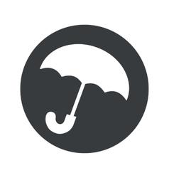 Monochrome round umbrella icon vector