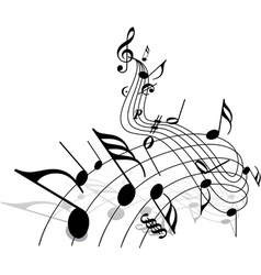 Music theme vector