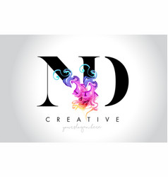 Nd vibrant creative leter logo design with vector