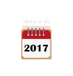 new year 2017 and old 2016 vector image
