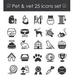 outline web icon set - pet vector image