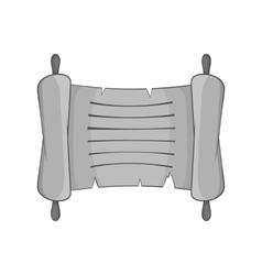Paper scroll icon black monochrome style vector