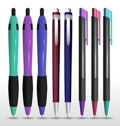 Pens 02 vector image vector image