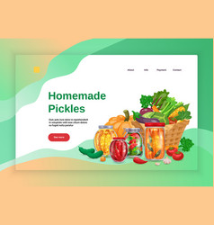 Pickles concept website page vector