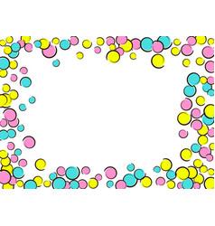 pop art border with comic polka dot confetti vector image