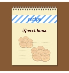 Recipe Book Sweet Buns vector